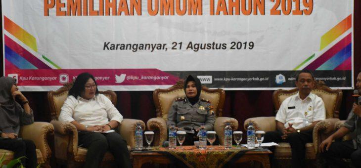 Rapat Evaluasi Pemilu Tahun 2019 Kabupaten Karanganyar