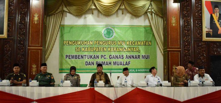 Pengukuhan Pengurus MUI Kecamatan Se-Kabupaten Karanganyar
