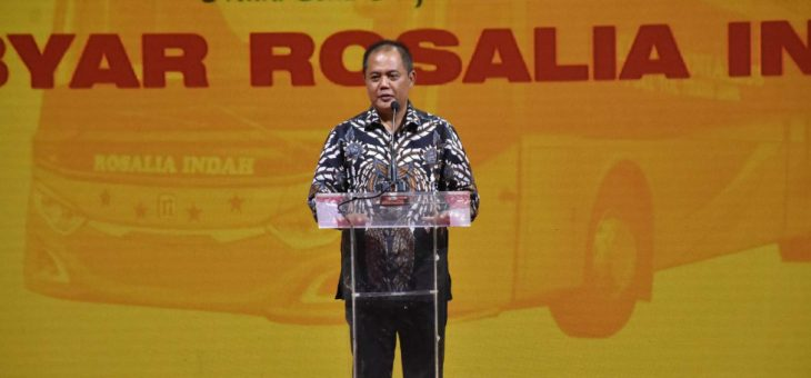Rosalia Indah Launching 22 Armada Double Decker Terbaru