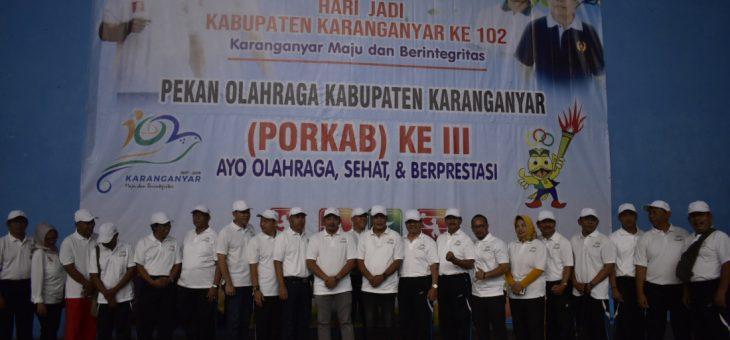 17 Kecamatan Se Karanganyar Kirim Kontingen Ikuti Porkab