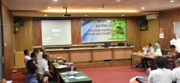 Uji PublikKeterbukaan Badan Publik Di Provinsi Jawa TengahTahun 2019