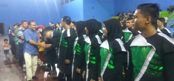 Marching Band Universitas Muhammadiyah Surakarta Gelar Konser Pamit Di GOR RM Said Karanganyar