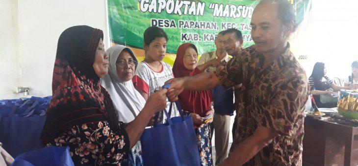 Panen Sukses, Gapoktan Marsudi Tani Bagi-bagi Paket Sembako