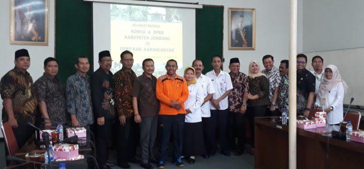 Kunjungan Kerja Komisi A DPRD Kabupaten Jombang
