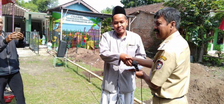 Peletakan Batu Pertama Pembangunan Gedung PAUD Muslimat NU 01 Nurul Huda di Dusun Blambangan
