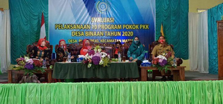 Evaluasi Sepuluh Program Pokok PKK, TP. PKK Kabupaten Kunjungi Desa Plosorejo