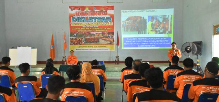 BPBD Kabupaten Karanganyar Memberikan Pengarahan Kepada Rendan (Relawan Karangpandan)