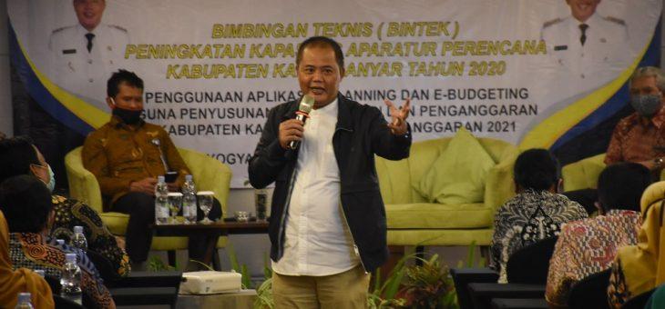 Bintek Peningkatan Kapasitas Aparatur Perencana Kabupaten Karanganyar Tahun 2020