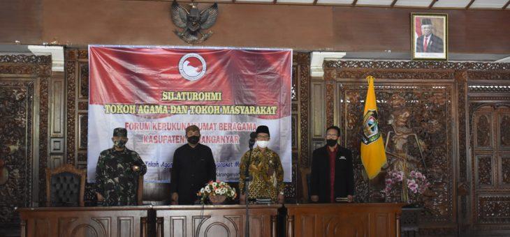 Silaturahmi Tokoh Agama dan Tokoh Masyarakat (FKUB) di Pendopo Rumah Dinas Bupati