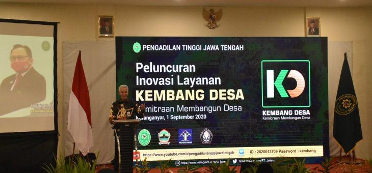 Gubernur Jawa Tengah Hadiri Launching Aplikasi Kembang Desa