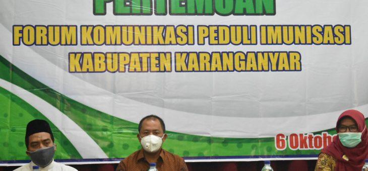 Pertemuan Forum Komunikasi Peduli Imunisasi Kabupaten Karanganyar