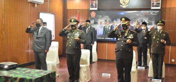 Upacara HUT TNI Ke-75 Secara Virtual