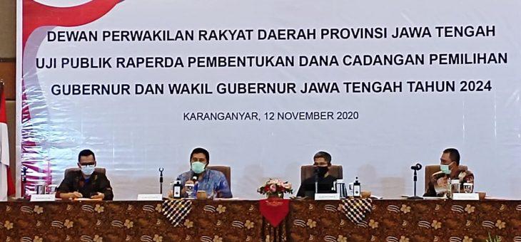 Uji publik raperda pembentukan dana cadangan pemilihan kepala daerah 2024