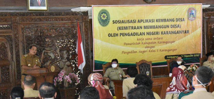 PN Karanganyar Lauching Aplikasi Kembang Desa