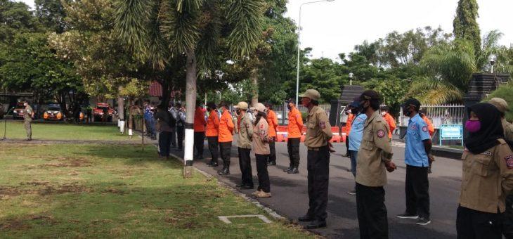 Apel Gelar Pasukan pengamanan Pemberlakuan Pembatasan Kegiatan Masyarakat (PPKM) di Kabupaten Karanganyar