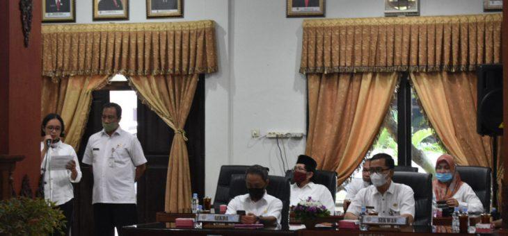 Rapat Paripurna Penyampaian Pandangan Umum Fraksi Terhadap Raperda Pertanggungjawaban Pelaksanaan APBD TA 2020